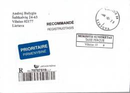 Lithuania To Moscow Registered Stamp - Lithuania