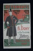 V�tements Hommes Catalogue A. DONY POITIERS Saison �t� 1907 Enfants couv. illustr�e L. EMERY