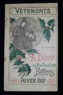 Vêtements Hommes Catalogue A. DONY POITIERS Saison HIVER 1907 Enfants Couv. Illustrée L. EMERY - Herr