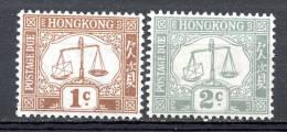 China Chine : (5209) 1923-56 Hong Kong - Postage Due SG D1a, D6a** - 1997-... Sonderverwaltungszone Der China