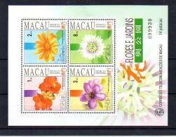 Fleurs Des Jardins De Macao, BF 17**, - Blocks & Kleinbögen