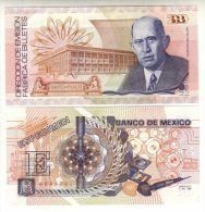 MEXICO COMMEMORATIVE BANKNOTE 1989 XF SPECIMEN - Banknotes Factory 20th Anniv. - Mexico