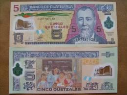 GUATEMALA 5 QUETZALES 2010 2011 P NEW POLYMER UNC - Guatemala