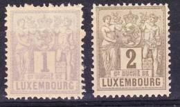 LUXEMBOURG 1892-91: YT 47 48  / Mi 45 B,  * MH - 1882 Allegorie