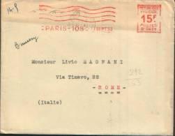 1953 EMA  PARIS 108 X ROMA - Affrancature Meccaniche Rosse (EMA)