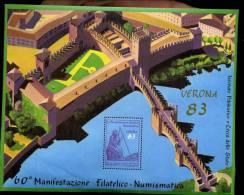 ERINNOFILI - VERONA 1983 - MANIFESTAZIONI FIL/NUM - FOGLIETTO IPZS - E/E - Erinnofilia