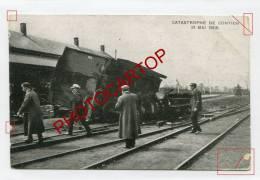 KONTICH-CONTICH-Catastrophe Ferroviaire-Chemin De Fer-Wagon-Train-1908-Reclame CINEMA-BELGIEN-BELGIQUE- - Kontich