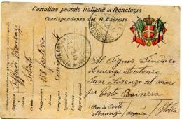 Cartolina Postale Italiana In Franchigia - Corrispondenza Del R. Esercito - Zona Di Guerra 1916 - War 1914-18