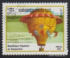 """1983 - KAMPUCHEA - Y&T 394 - Aviation - """"La Ville D'Orléans"""" - Kampuchea"""