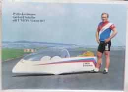 PHOTO Weltrekordmann Gerhard Scheller Mit UNION SUPER VECTOR 007 FRONDENBERG Reccord Vitesse - Ansichtskarten
