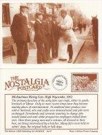 Postcard Michaelmas Hiring Fair HIGH WYCOMBE 1912 Nostalgia Butcher Interview Repro - Fairs