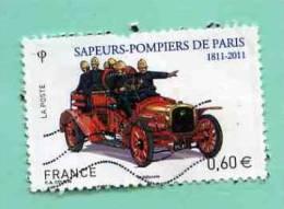 FRANCE 2011 - Y&T N° 4590 : Sapeurs Pompiers De Pompiers +++ Voiture +++ 2nd CHOIX - Used Stamps