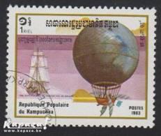 "1983 - KAMPUCHEA - Y&T 396 - Aviation - ""Blanchard & Jeffries"" - Kampuchea"