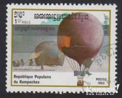 """1983 - KAMPUCHEA - Y&T 397 - Aviation - """"Montgolfière"""" - Kampuchea"""