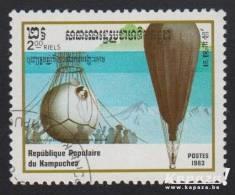 1983 - KAMPUCHEA - Y&T 398 - Aviation - Piccard - FNRS - Kampuchea