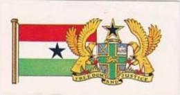 Brooke Bond Tea Vintage Trade Card Flags &amp  Emblkems Of The World No 8 Ghana - Thé & Café