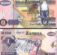 Zambia #38b, 100 Kwacha, 1992, UNC / NEUF - Sambia