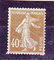 FRANCE   Y.T. N° 193  Brun-olive  NEUF*  Trace De Charnière - 1906-38 Semeuse Con Cameo