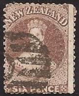 NUEVA ZELANDA 1864/66 - Yvert #35 - VFU - Usados