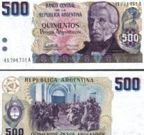 Argentina #316a, 500 Pesos Argentinos, ND (1984), UNC / NEUF - Argentinien