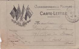 1916 - CARTE LETTRE F.M.  ILLUSTREE EDITEE à PARIS - Marcophilie (Lettres)
