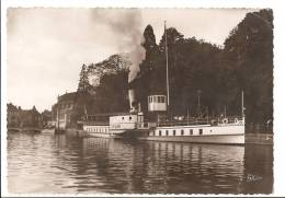 """Haute Savoie - 74 - Annecy - Le Port Jardin Publique Bateau """" Mont Blanc """" En 1940 , Ed Gardet Et Garin - Annecy"""