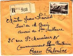 LRI 0843 Le Havre B Caen (dos) - Marcophilie (Lettres)