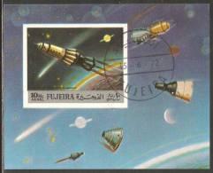 Fujeira 1972 Mi# Block 103 B Used - Imperf. - Space Exploration - Espace