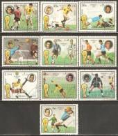 Fujeira 1972 Mi# 1391-1400 A Used - Football World Championship 1974, Germany / Soccer - Coppa Del Mondo