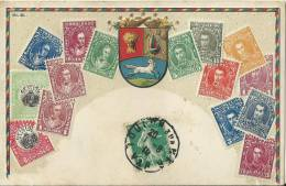 35W    Venezuela Cpa Timbres De 1910 - Venezuela