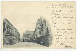 AIX LES BAINS (73) - CPA - PLACE CENTRALE - ATTELAGES - Aix Les Bains