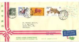HONG-KONG, Belle Lettre Illustrée , Adressée En Australie - Ohne Zuordnung