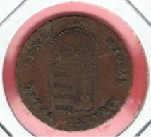 HUNGRIA - HUNGARY -  1 Krajzar 1849NB   KM430.2 - Hongarije