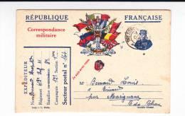 1915 - CARTE POSTALE Des Armées  ILLUSTREE TYPE JOFFRE + TREFLE - SP164 - Marcophilie (Lettres)