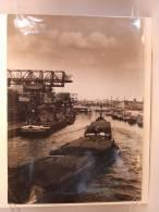 Photo Presse. Bateau.Port De Berlin Hafen. Péniches. Voir Cachets Au Dos. - Barcos