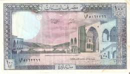 BILLETE DE LIBANO DE 100 LIVRES DE LOS AÑOS 1964 A 1978 (BANKNOTE) - Líbano