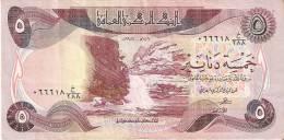 BILLETE DE IRAQ DE 5 DINARS DEL AÑO 1981 (BANKNOTE) - Iraq