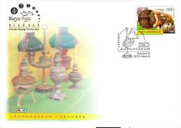 HUNGARY-2013. FDC Lamp Museum In Zsámbék - 3 DIMENSIONAL RR! - FDC