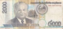 BILLETE DE LAOS DE 2000 RIELS DEL AÑO 2011  (BANKNOTE) - Laos