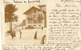 LEYSIN (Suisse) Carte Photo Patinoire Du Grand Hotel Animation - VD Vaud