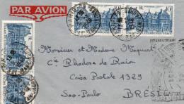 FRANCE LETTRE PAR AVION DEPART PARIS 5-3-1948 POUR LE BRESIL - 1927-1959 Briefe & Dokumente