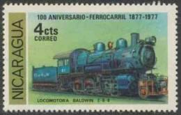 Nicaragua 1978 Mi 2030 ** Baldwin Steam Locomotive No. 31, 2-8-0 (1906) – Cent. Railways (1877-1977) - Treinen