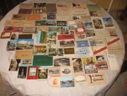 LOT DE 77 CARNETS DE CARTES POSTALES FRANCE EUROPE - 5 - 99 Cartoline