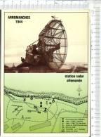 DEBARQUEMENT EN NORMANDIE  - ARROMANCHES  -   2  Vues  -   Station Radar Allemande - - Guerre 1939-45