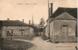 Cpa08 Braux église & Mairie - France