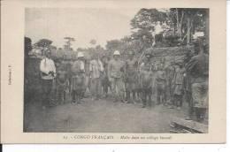 CONGO FRANCAIS - Halte Dans Un Village Bacouli - Congo Français - Autres