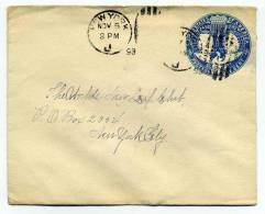 Entier Postal UNITED STATES OF AMERICA / 1893, November The 5th / For New York City
