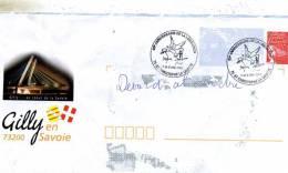 Enveloppe Obliteration Mecanique ( Flammes) Du 60e Anniversaire De Liberation--St-Christophe La Grotte 73 Le7-8-5 2005 - Marcophilie (Lettres)