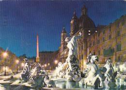 Italy Roma Piazza Navonna di notte