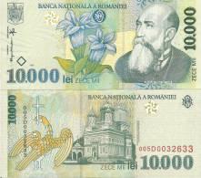Romania P112a, 10,000 Lei, Writer Nicolae Lorga, Gentian Flower -POLYMER $5CV - Romania
